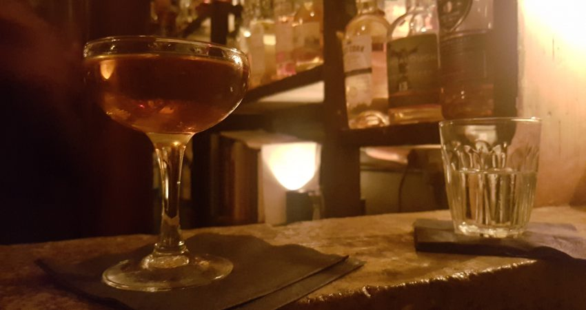 Clandestine drinking at The Vault in London
