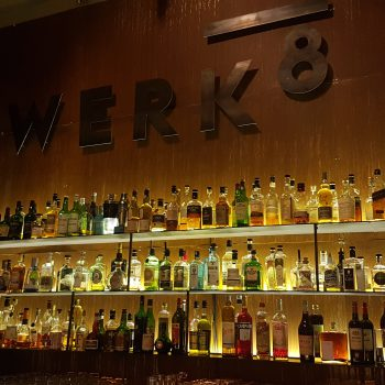 Craft cocktails in an industrial setting at Basel's Werk8